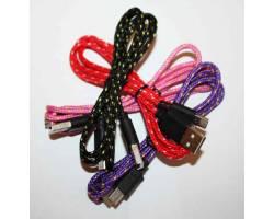USB-micro дата кабель в капроновой оболочке цветные v.2