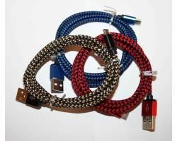 USB-micro дата кабель в капроновой оболочке цветные v.3