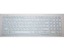 Клавиатура для ноутбука Sony SVE15 white с рамкой